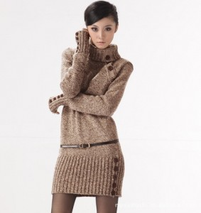 2014-Winter-Women-s-Long-Stretch-Design-Turtleneck-Sweater-Dress-Warm-Thicken-Pullover-Crochet-Jumper-Knitted