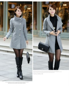 2014-Women-Brand-New-Outerwear-Coats-Winter-Cashmere-Parkas-Single-Breasted-Wool-Black-Grey-Apricot-Plus