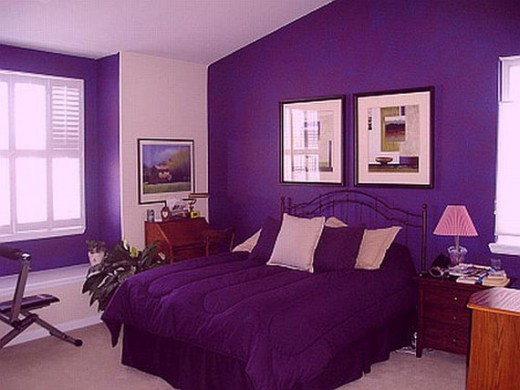 purple bedroom mediterranean matching - photo #32