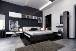 Black-Grey-and-White-are-Perfect-Mix-for-Modern-Master-Bedroom-Ideas