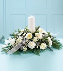 Winter Garden Candle Centerpiece Arrangement $99.95