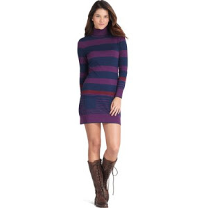cotton-and-wool-stripe-turtleneck-dress