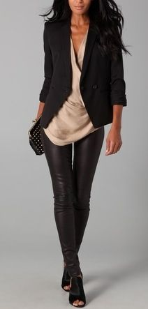 Exciting Outfits How To Wear Your Leather Leggings