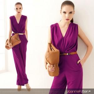 2014-New-woman-font-b-jumpsuits-b-font-V-neck-summer-elegant-font-b-formal-b