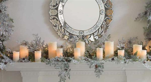 6531caff9c0c08cec9ccae5596d311bc Elegant Fireplace Mantels Decor For  Christmas ...