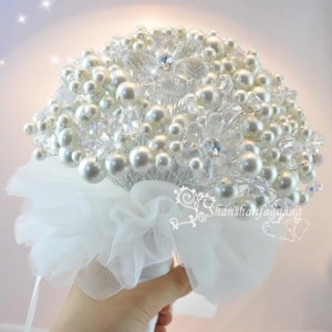 Free-shipping-High-end-European-and-American-luxury-pearl-bride-hand-bouquet-pearl-the-bride-bouquet