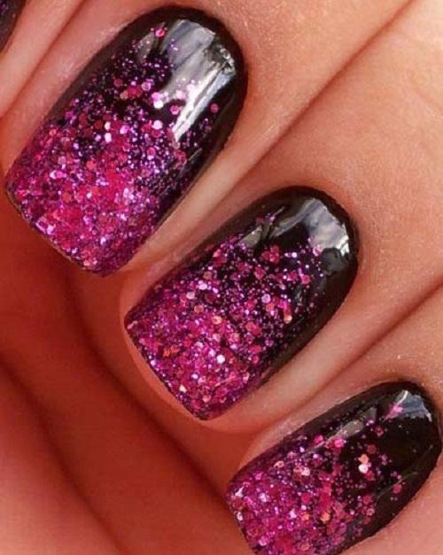Acrylic-nails-glitter