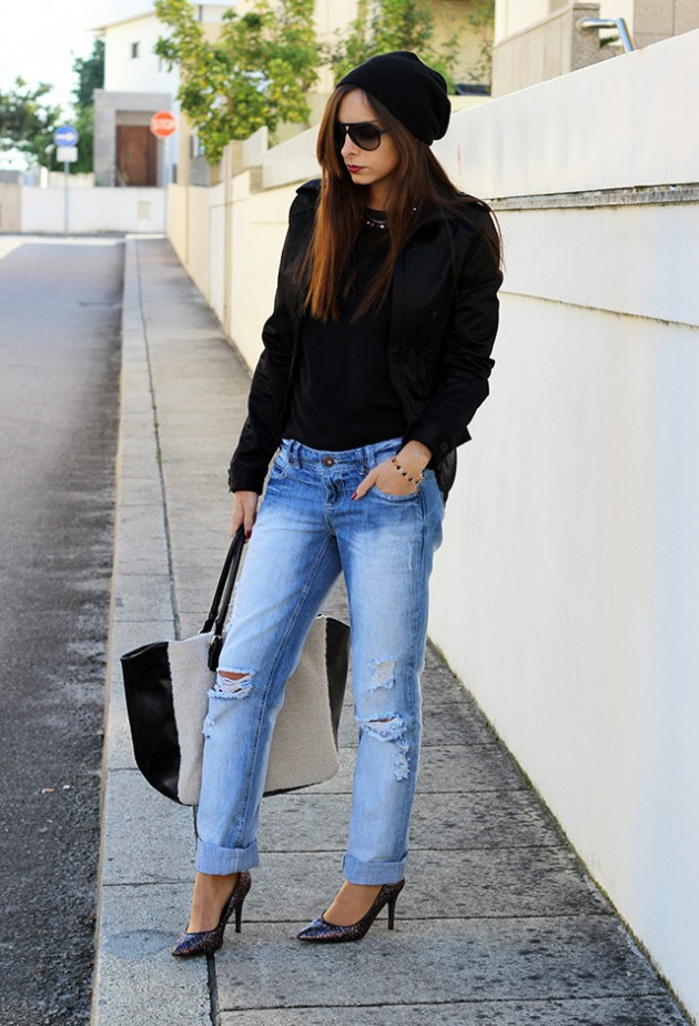 How to wear boyfriend jeans with converse
