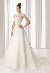chiffon-and-lace-jewel-a-line-elegant-wedding-dress