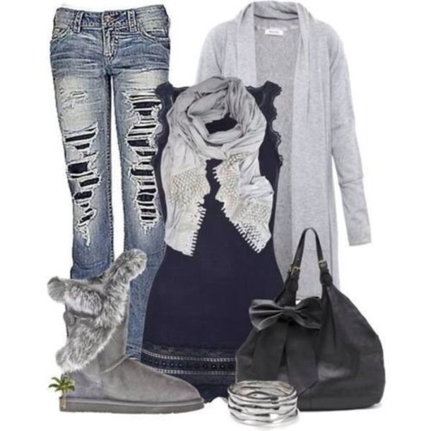 Delve into the world of jeans! Cute winter outfits u2013 LifeStuffs