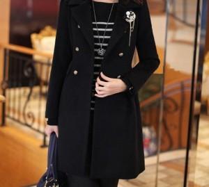 2012-Autumn-Winter-Women-s-coat-ladies-fashion-outerwear-black-beige-medium-long-windbreaker-without-brooch
