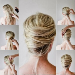 Messy-French-twist-updo