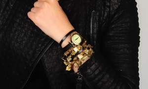 Artilady-new-arrival-gold-plated-leaf-wrap-wrist-watch-retro-leather-watch-bracelet-stack-layer-watch