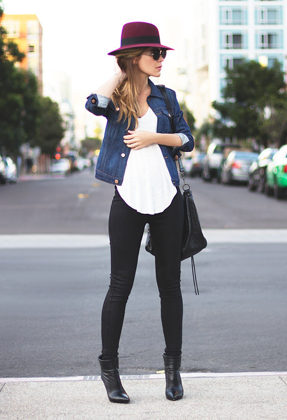 Spring style - how to wear a denim jacket