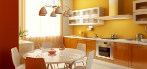 fresh-inspiration-for-contemporary-orange-kitchen-and-dining-room-design-modern-minimalist