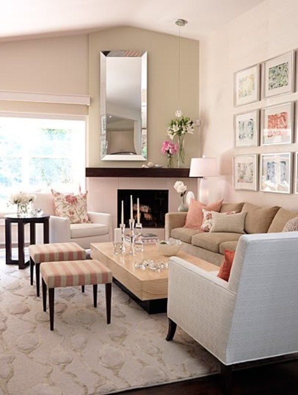How to decorate a beige living room lifestuffs - Accent colors for beige living room ...