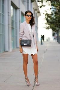 light-violet-blazer-and-black-crossbody-bag-and-white-casual-dress-and-silver-gladiator-sandals-original-2407