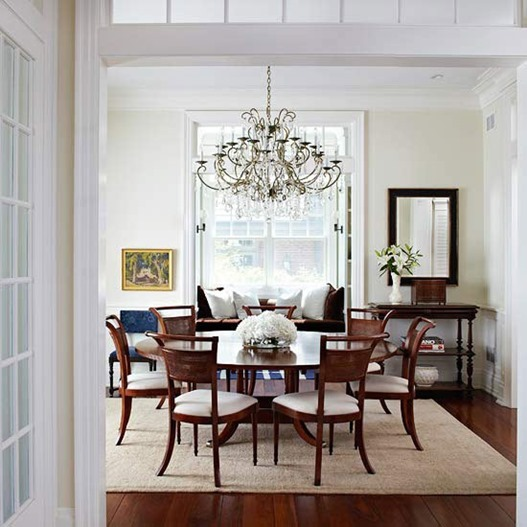 Dining Room Lighting Over Round Table