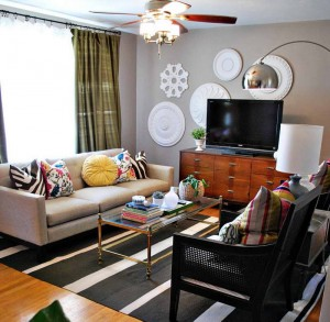 Decorating-Small-Spaces-nate-berkus-decorating-small-spaces-with-green-drapery