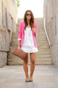 White-Summer-Dress-Pink-Blazer-396x600