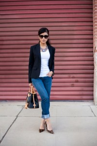 White-Tee-Black-Blazer