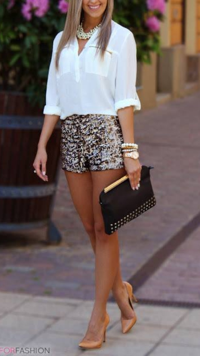 Summer style - How to wear printed shorts