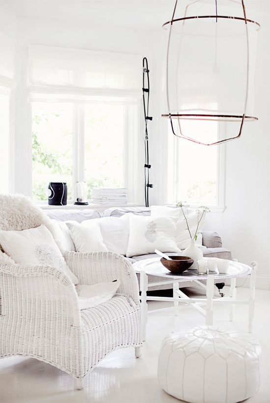 Decorating tips - Amazing all-white rooms