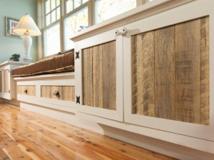blog-cabin-2012-living-room-rustic-and-refined-built-ins-with-weathered-textured-wood-inserts-and-creamy-white-smooth-cabinet-door-frames.