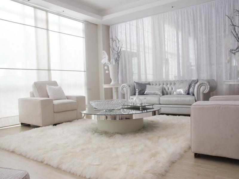 Superb Comely Decor For Impressive White Living Room Design