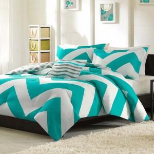 coral-chevron-bedding-set