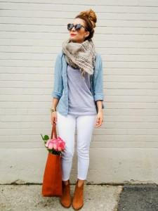 white-denim-for-fall-aritzia-blanket-scarf-ootd