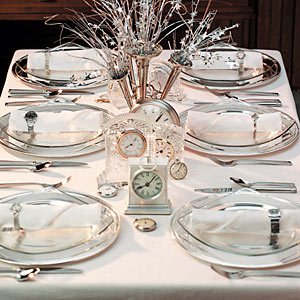 Celebrate New Year's Eve in style - Beautiful and festive table decorations