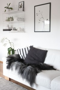 monochrome-Nordic-living-room-Icelandic-sheepskin
