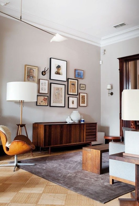 Learn the secrets to interesting interior - How to mix different wood finishes