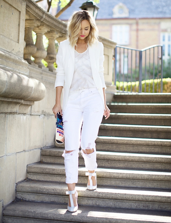 Stylish summer outfits – How to style white jeans