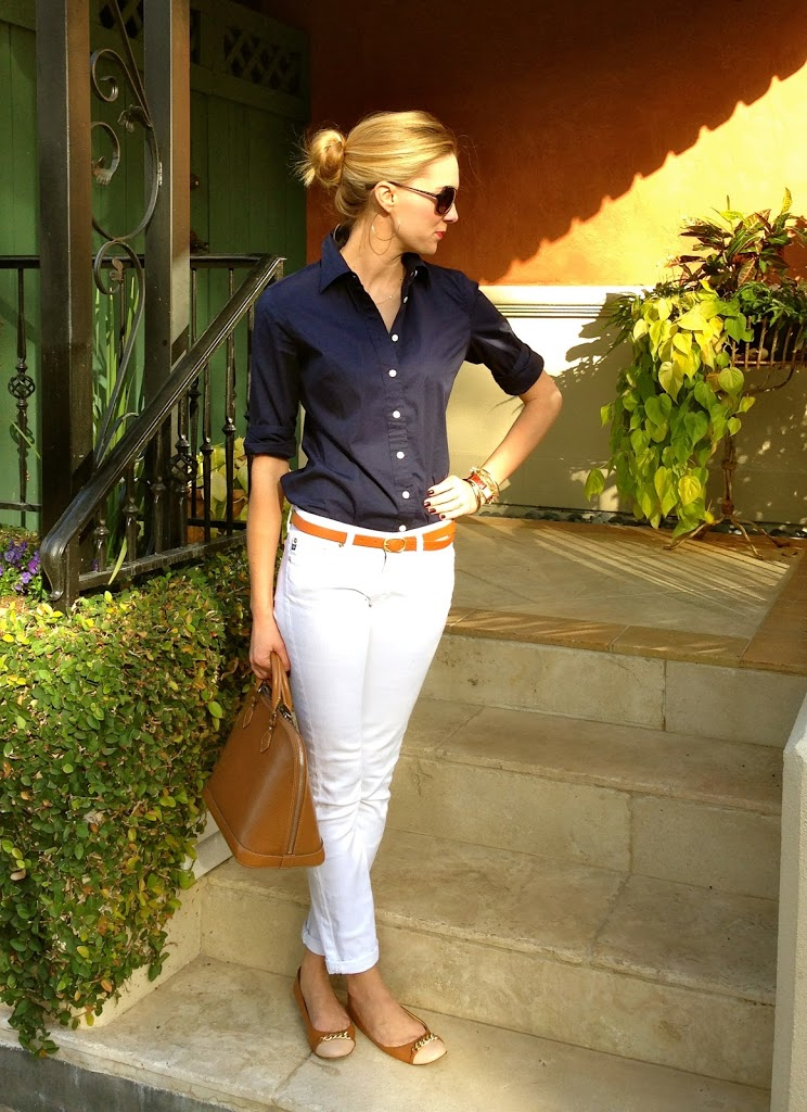 Stylish summer outfits - How to style white jeans