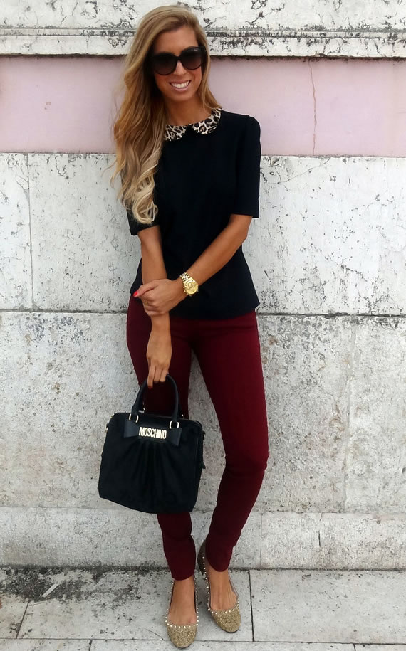 Maroon pants - What to wear with them - LifeStuffs